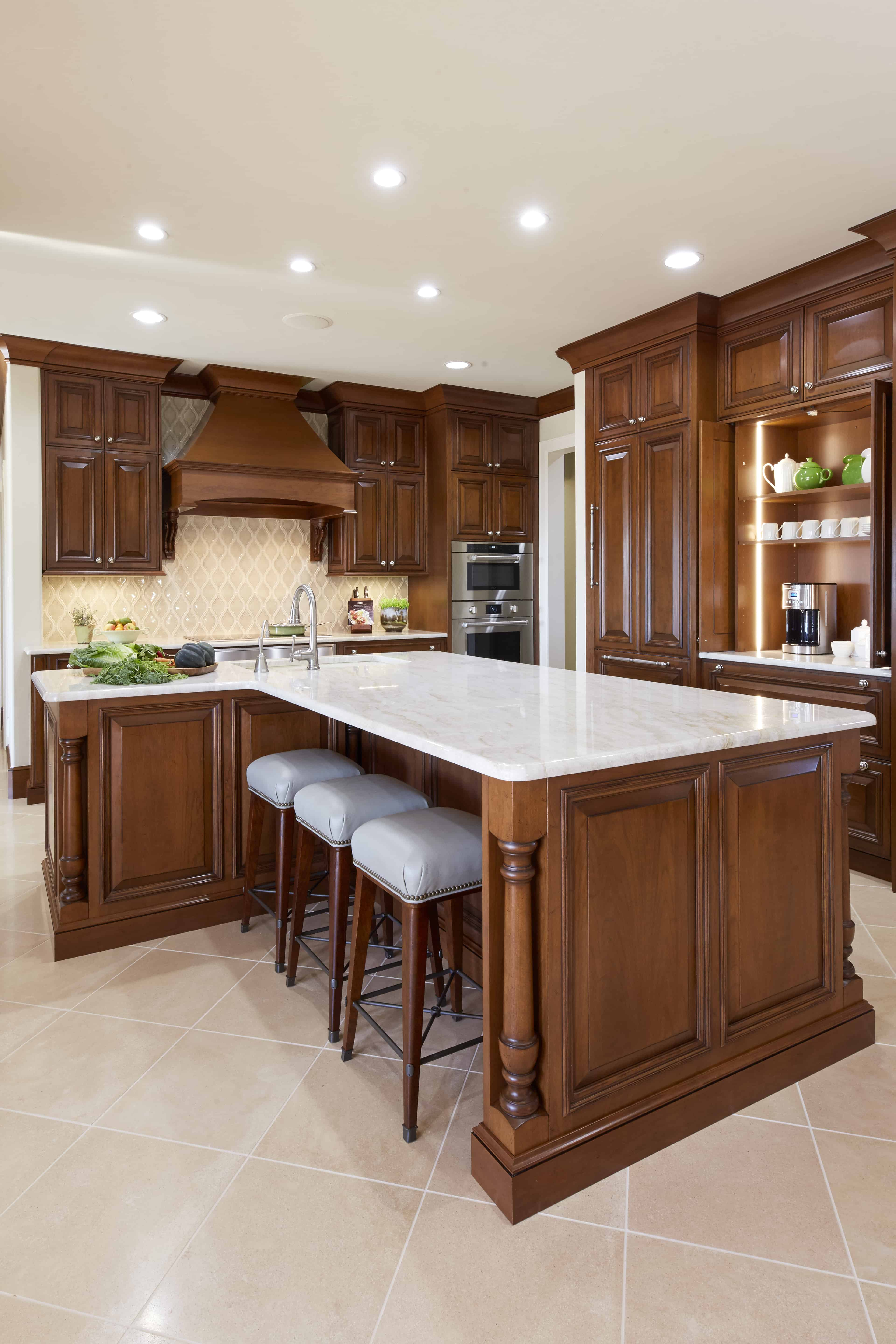 Traditional kitchen stained cabinets -hpd architecture ...