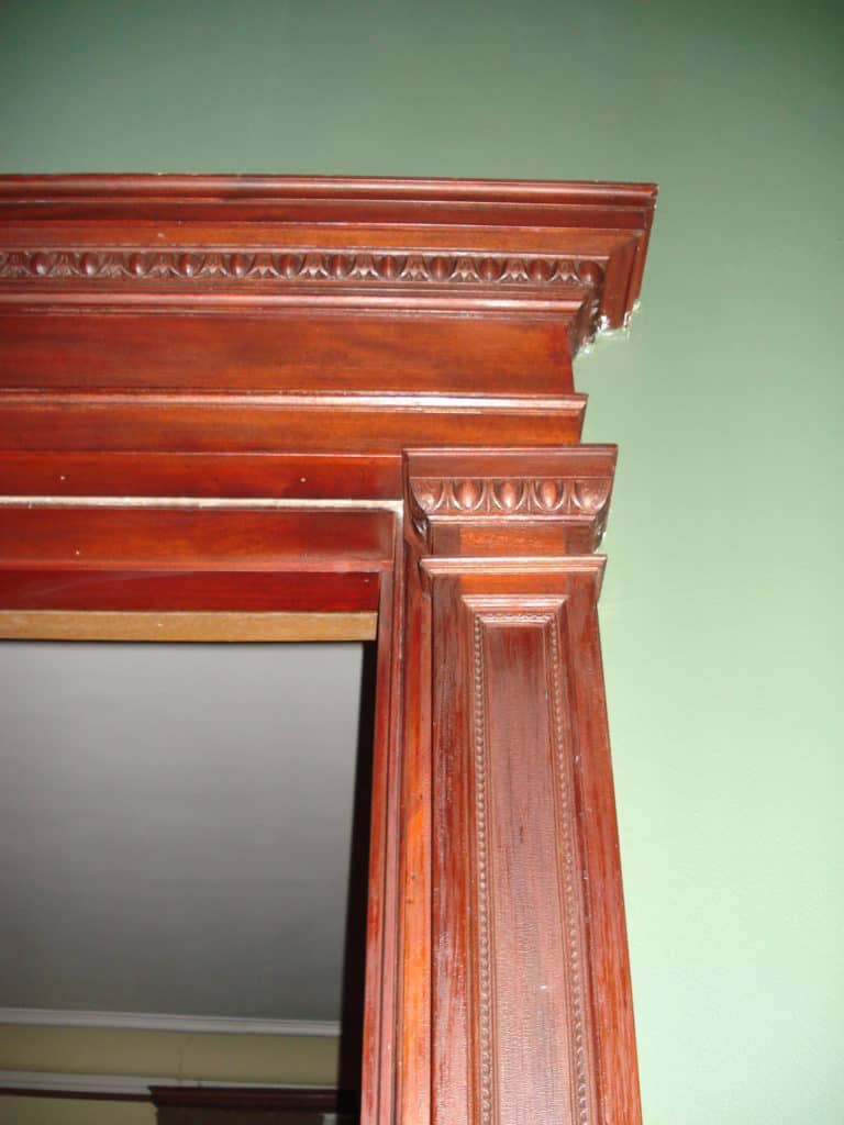 Hand carved door surround
