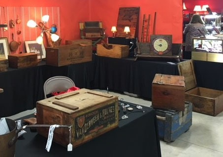 antique boxes popular at show