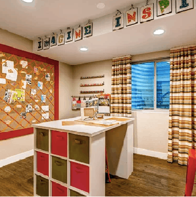 Basement space by Wonderland Homes & shared on Houzz