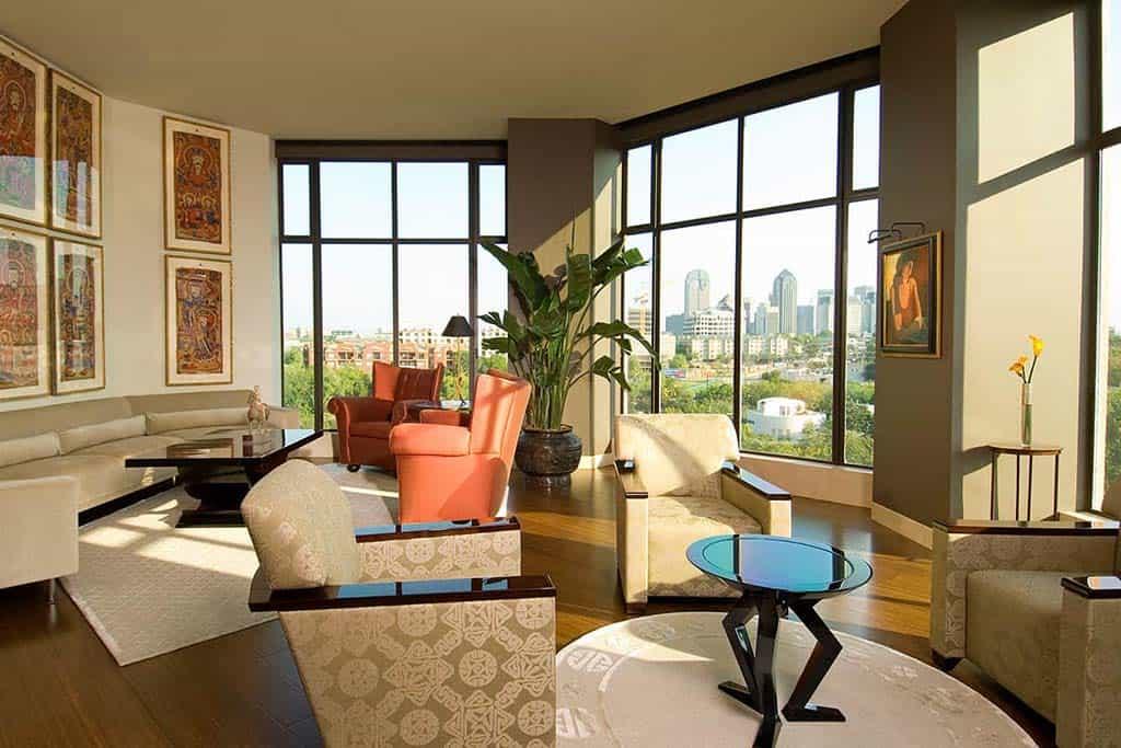 Condo modern living area remodel