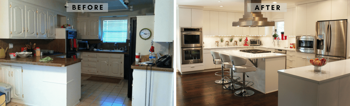 Contemporary Before & After Kitchen hpd architecture + interiors 1
