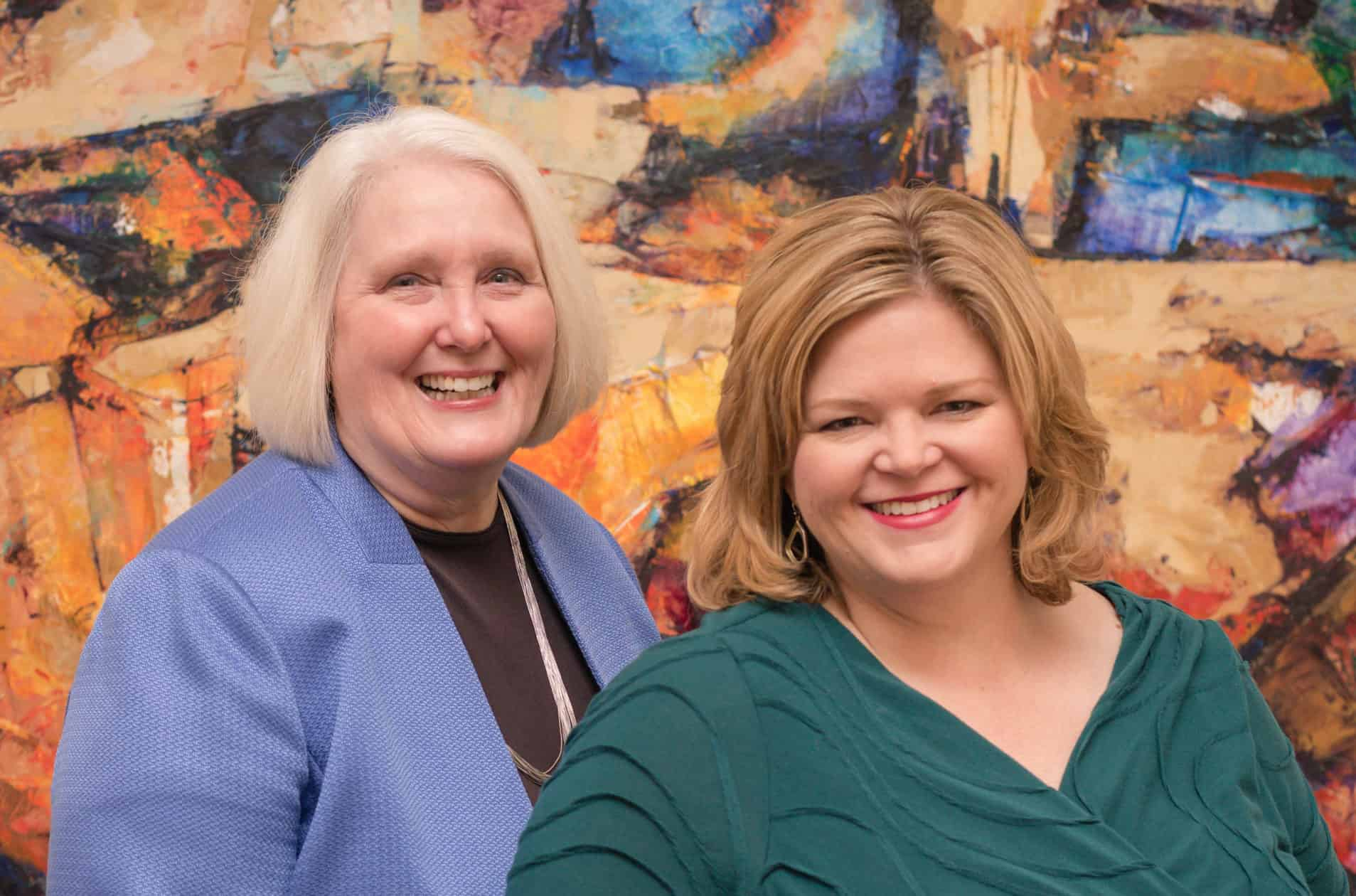 Holly Hall and Laura Davis podcast hosts