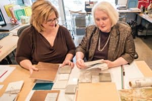 Laura & Holly working on interiors