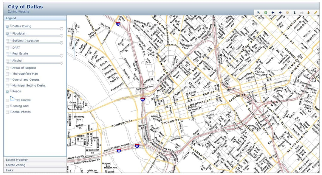 Dallas City Zoning Map