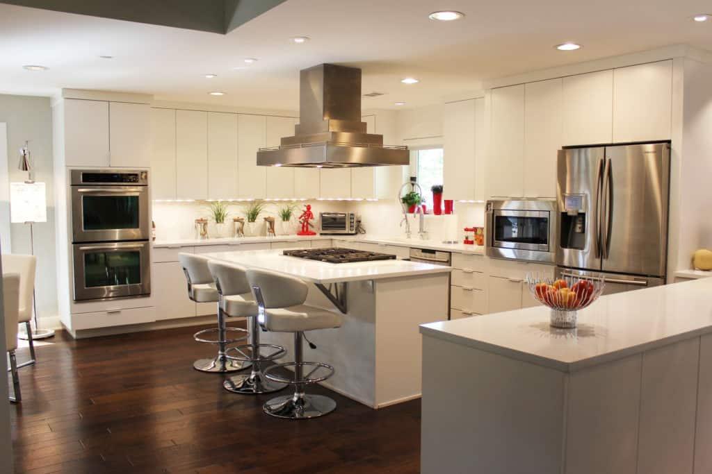 white gourmet kitchen remodel