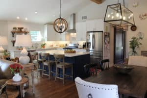 Kitchen Modern Farmhouse Open to Dining Remodel