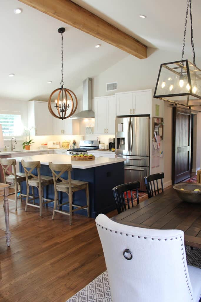 Kitchen Modern Farmhouse Vaulted Ceiling Wood Floor