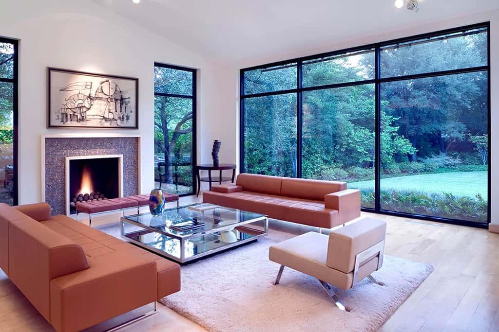 Modern living area remodel