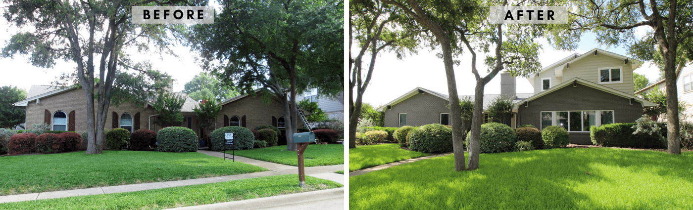 Ranch Contemporary Before & After Exterior hpd architecture + interiors 1