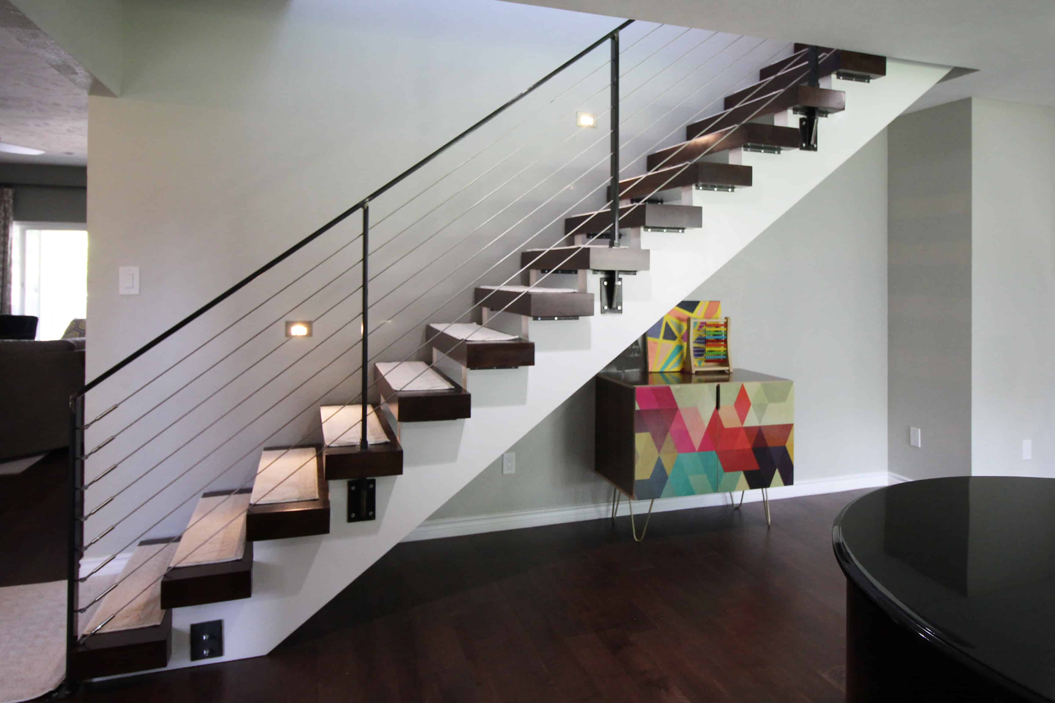 Ranch Contemporary Stair 2nd Floor Addition