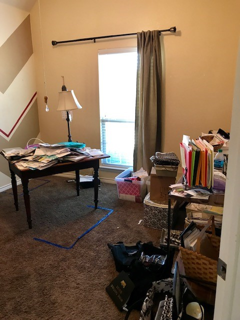 messy office before