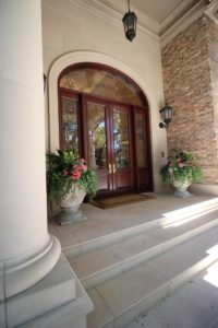 Best Architect For You Is Successful In The Details   Stone Column  Beautiful Wood Door On