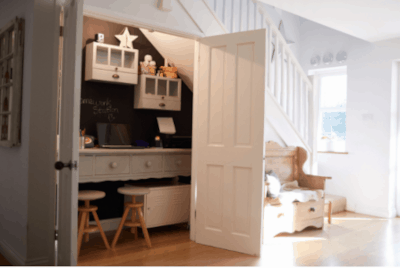 Closet craft space by Home Lane