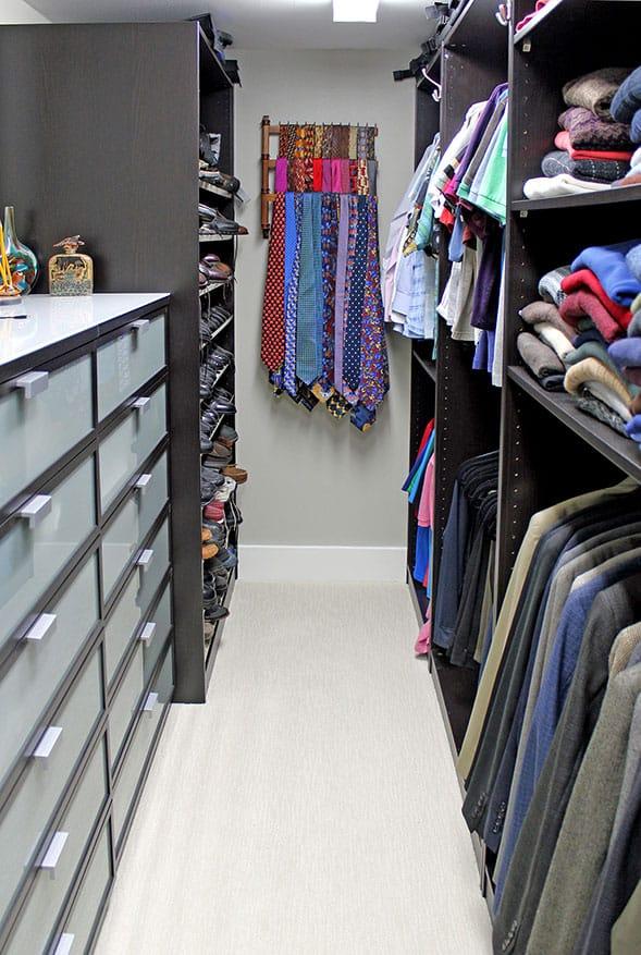men's closet remodel