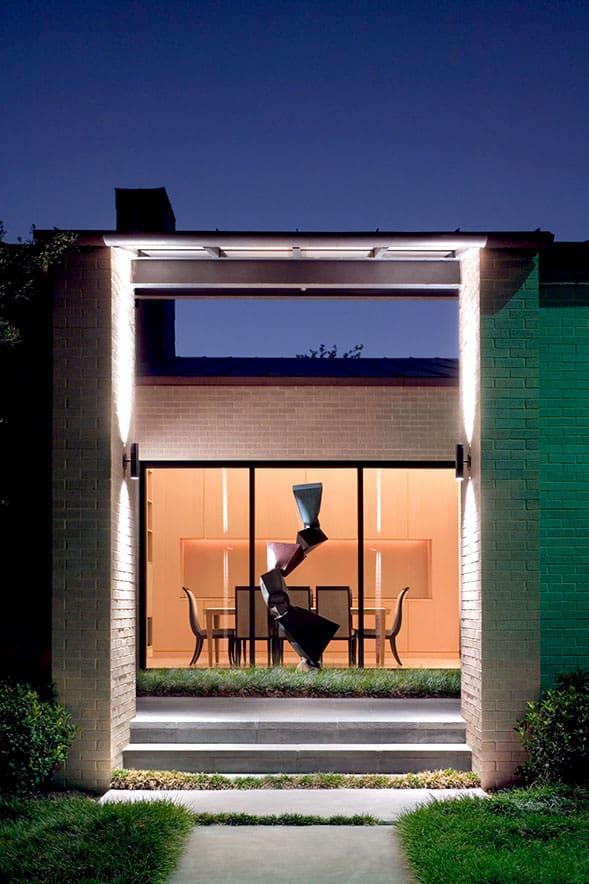 Exterior walkway home remodel