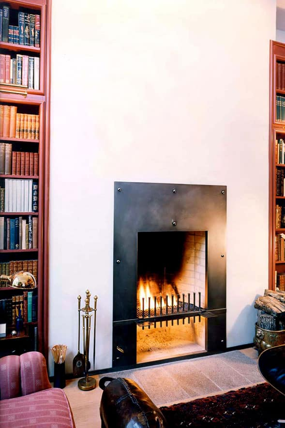 Fireplace library remodel