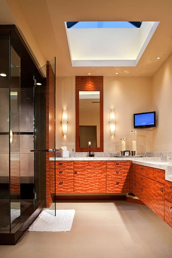 contemporary home decor - bathroom