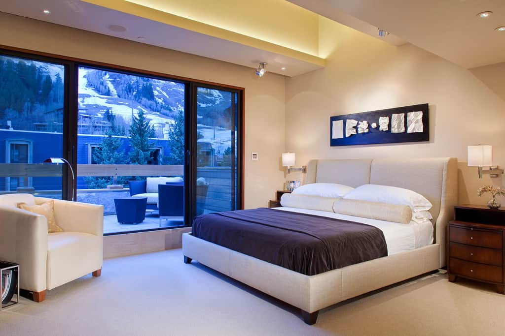 Master bedroom remodel bed view