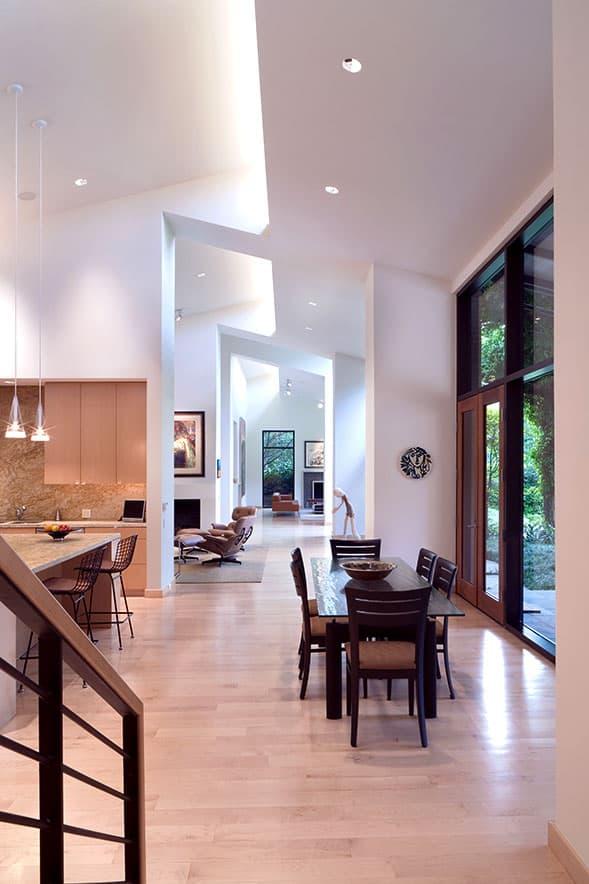 Modern home remodel - stairway and hallway