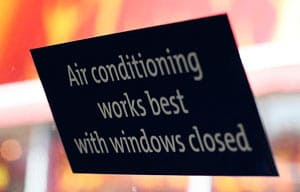 Saving energy advice air conditioning