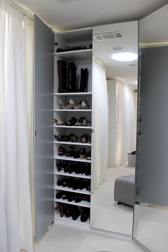 shoe closet remodel