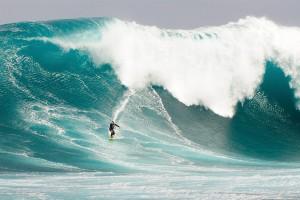Tidal wave surfer